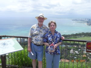 Sherryl (N3MIU) and I on top of Diamond Head on Oahu Island