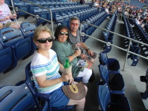Ball game with Sherryl,Bill, & Pam
